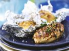 Grilled Chicken Breasts with Baked Potatoes recipe