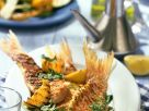 Grilled Fish with Arugula Butter recipe