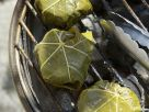 Grilled Goat Cheese Wrapped in Grape Leaves recipe