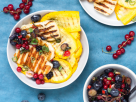 Grilled Halloumi and Zucchini with Berry Salsa recipe