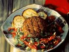 Grilled Lamb Burgers with Potatoes and Salad recipe