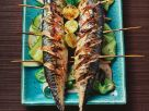 Grilled Mackerel with Fruity Cucumber Salad recipe