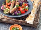 Grilled Merguez and Vegetables recipe
