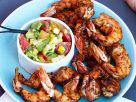 Grilled Prawns with Chopped Salad recipe