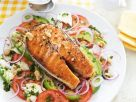 Grilled Salmon with Tomato Salad recipe