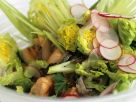 Grilled Salmon with Tossed Greed Salad recipe