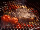 Grilled Sirloin Steak and Tomatoes recipe