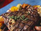 Grilled Steak with Vegetables recipe