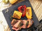 Grilled Steaks with Vegetables recipe