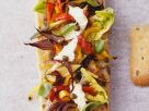 Grilled Veggie Open Sandwich recipe