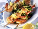 Grilled Zucchini and Shrimp Skewers recipe