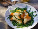 Haddock with Salicornia (Sea Asparagus) recipe