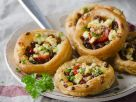 Halloumi, Olive and Tomato Pastries recipe