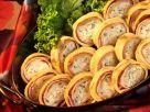 Ham and Brie Pancake Rolls recipe