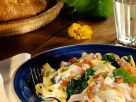 Ham and Pappardelle with Tomatoes recipe