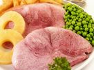 Ham with Peas and French Fries recipe