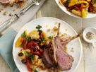 Harissa Crusted Lamb Cutlets with Peperonata recipe