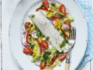 Healthy Cod with Tomatoes and Radish recipe