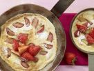 Healthy Pancake with Strawberries and Rhubarb recipe