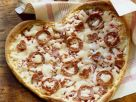 Heart-Shaped Pizzas with Salami recipe