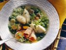 Hearty Soup with Peas, Bacon and Dumplings recipe