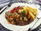 Hearty Steak with Mushrooms and Tomatoes recipe