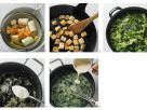 Herb Soup with White Bread Croutons recipe
