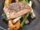 Herby Salmon Fillets with Vegetables recipe