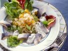 Herring with Sauerkraut Salad recipe