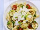 Italian Pasta Salad with Zucchini, Tomato and Parmesan recipe