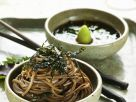 Japanese Soba Noodles with Nori and Ginger-Basil Dipping Sauce recipe