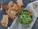 Kale Avocado Chili Dip with Keto Crackers recipe