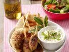 Lamb Kebab Skewers with Garnish recipe