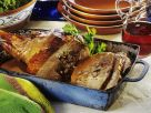 Lamb Leg Stuffed with Beans and Eggs recipe