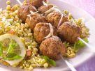 Lamb Meatballs with Wheat Salad recipe