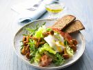 Leaves with Poached Egg and Mushrooms recipe