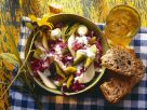 Leek and Red Cabbage Salad with Pears recipe