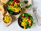 Lentil Bowl with Vegetables and Pineapple Salsa recipe
