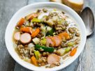 Lentil Soup with Hot Dogs recipe