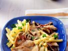 Macaroni with Turkey Breasts and Porcini Mushroom Sauce recipe