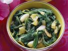 Mallow Salad with Garlic recipe