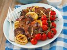 Marinated Pork Chops with Grilled Vegetables recipe