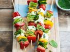 Marinated Vegetable and Cheese Skewers recipe