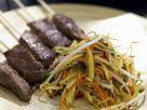 Beef Skewers with Tropical Fruit recipe