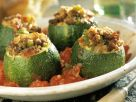 Meat, Tomato, and Cheese Stuffed Zucchini Cups recipe