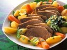 Meat with Vegetables with Herb Sauce recipe