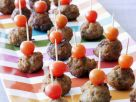 Meatball and Tomato Skewers recipe