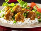 Meatballs with Curry Sauce and Rice recipe