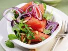 Melon Arugula Salad with Pine Nuts recipe