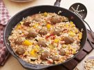Middle Eastern-Style Rice with Meatballs recipe